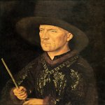 Jan van Eyck (about 1395-1441)  Portrait of Baudouin De Lannoy  Oil on panel, 1435  26 x 20 cm  Gemaldegalerie, Staatliche Museen, Berlin, Germany